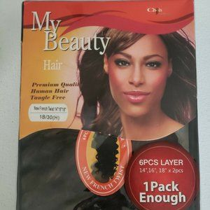 Human Hair Extension 6 pcs New French Twist